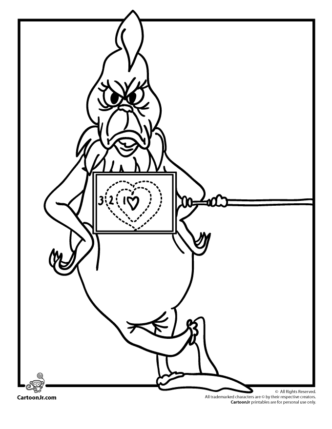 Christmas Coloring Pages Of The Grinch