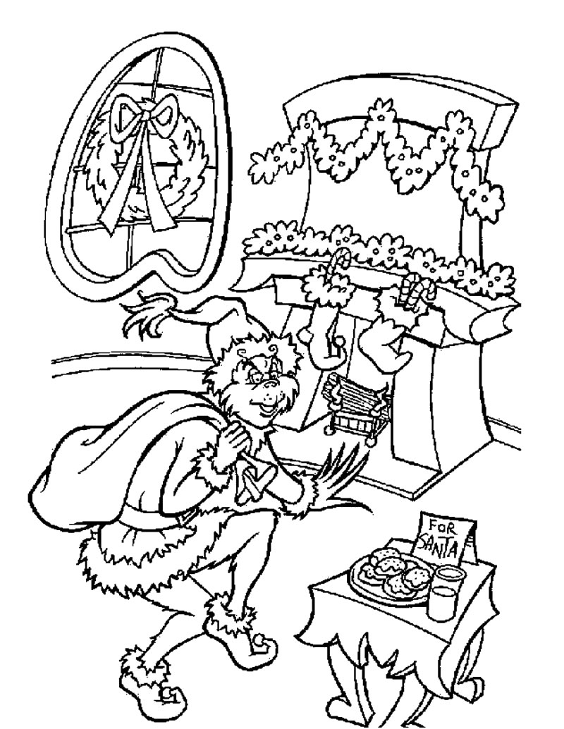 800x1034 Elmo Christmas Coloring Pages To Grinch Sheets