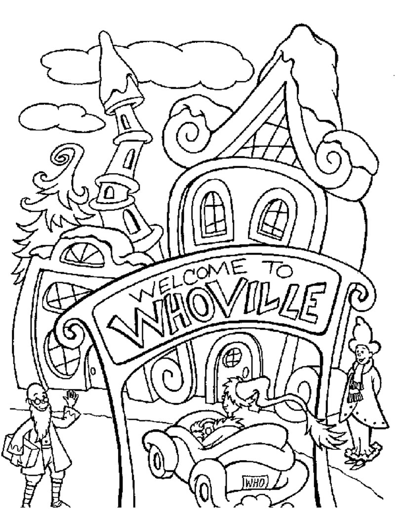 800x1034 How The Grinch Stole Christmas Coloring Pages