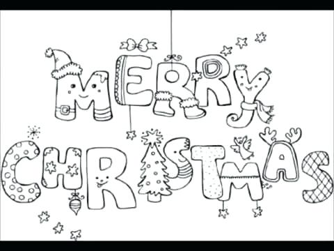 480x360 Merry Christmas Coloring Page Merry And Bright Coloring Page Merry