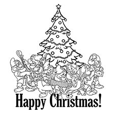 230x230 Top Free Printable Disney Christmas Coloring Pages Online