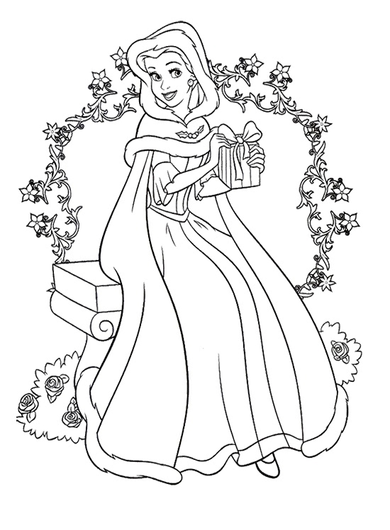 550x748 Christmas Coloring Pages Princess