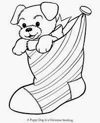Christmas Coloring Pages Puppy