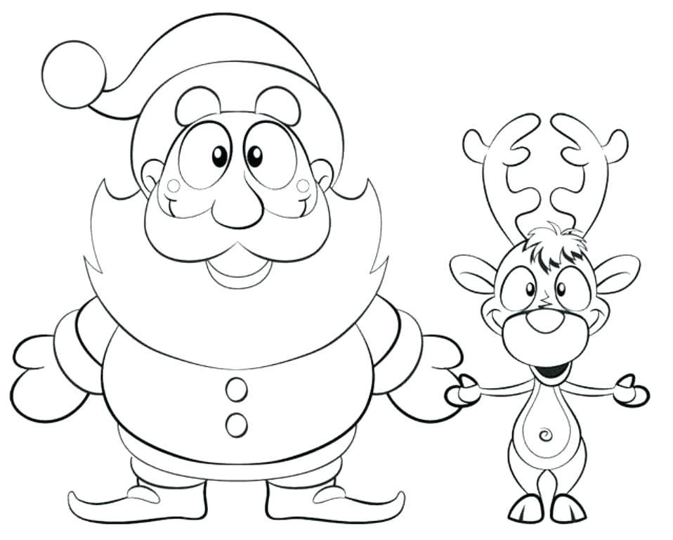 958x768 Coloring Page Santa Coloring Page Printable Coloring Image Santa