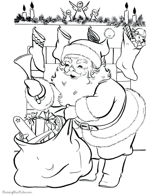 670x820 Santa Christmas Coloring Pages Coloring Pages Santa And Christmas