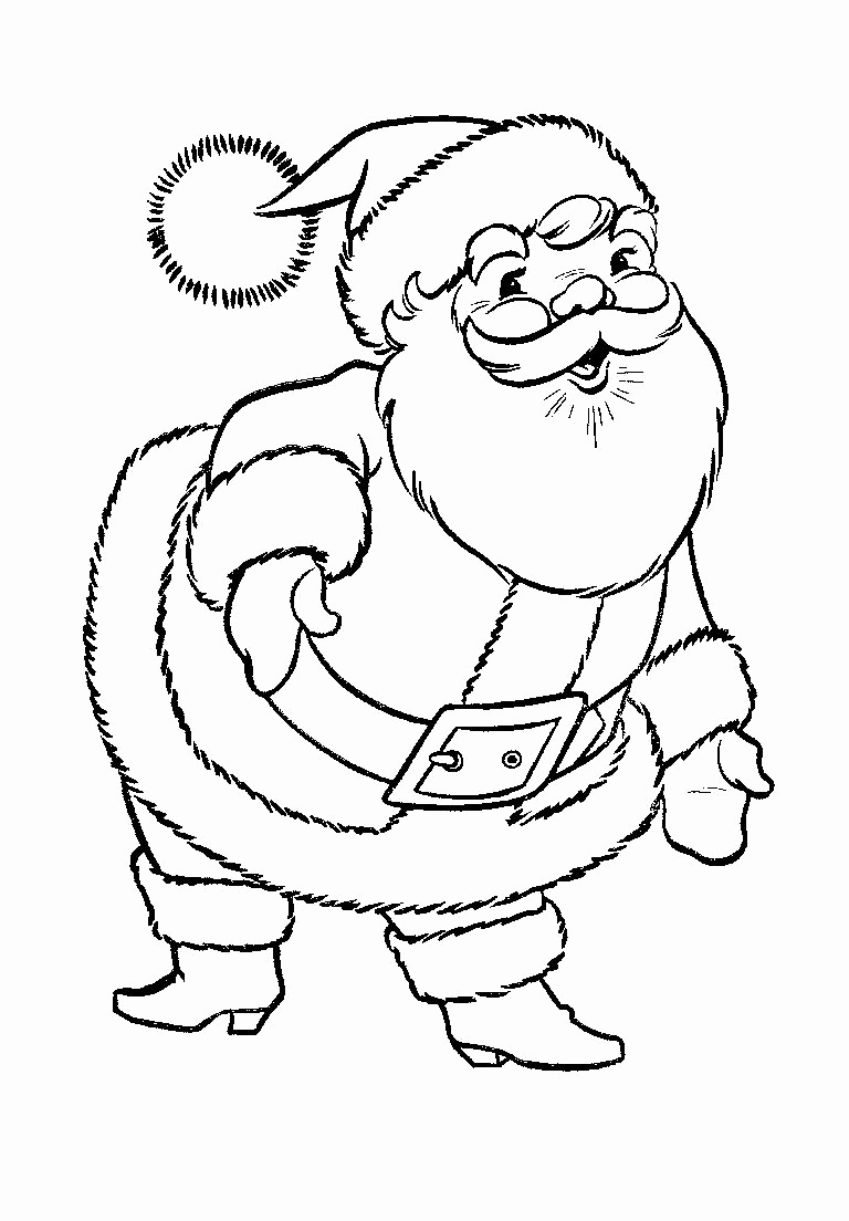 768x1104 Kids Under Santa Claus Coloring Pages Santa Claus Coloring Santa