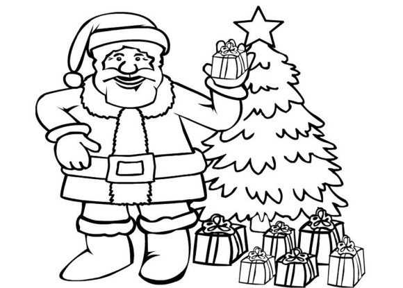 580x415 Christmas Santa Claus Coloring Pages Coloring Pages Of Santa Claus