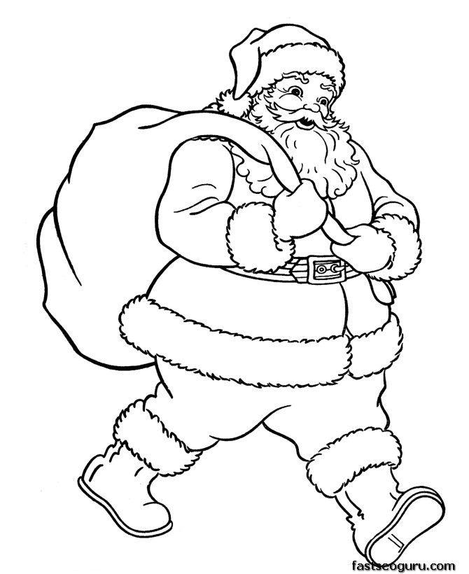 670x820 Coloring Pages Of Santa Christmas Santa Claus