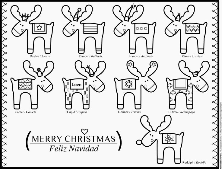 Christmas Coloring Pages Spanish