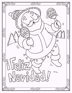 Free Spanish Christmas Coloring Pages, Download Free Clip Art ... | 305x236