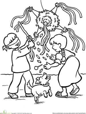 301x398 Las Posadas Coloring Page Worksheets, Spanish And Kindergarten