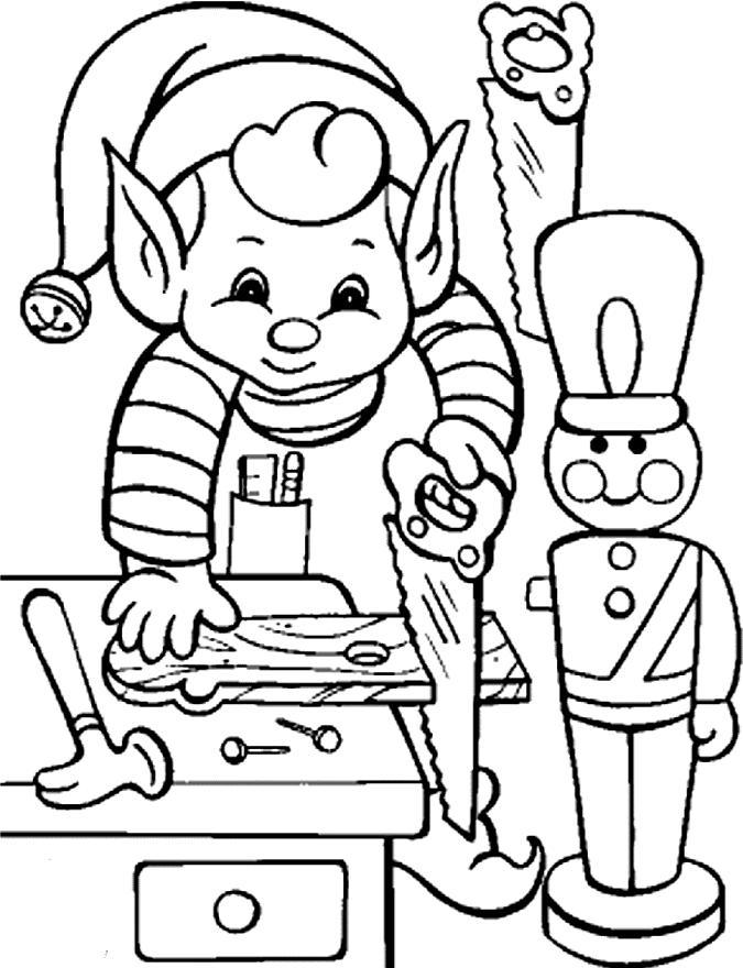 675x880 Printable Christmas Elf Coloring Pages