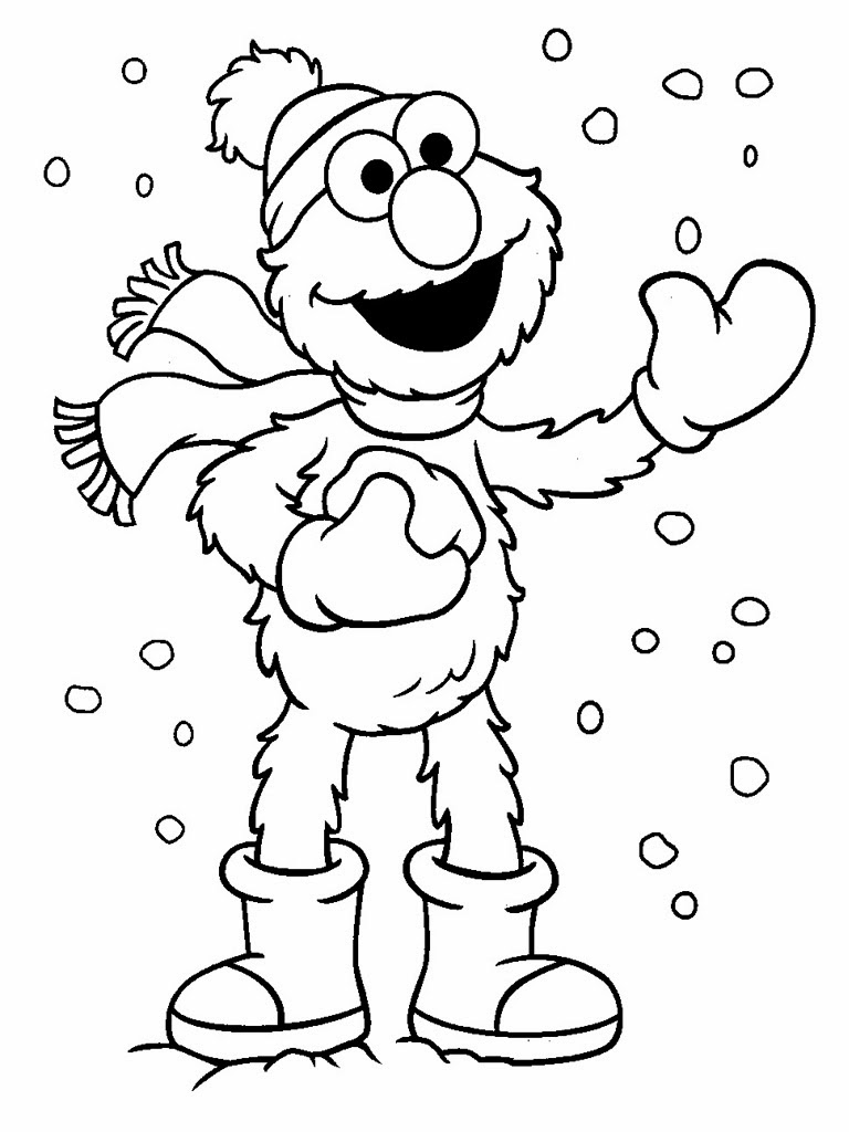 768x1024 Elmo Christmas Printable Coloring Pages