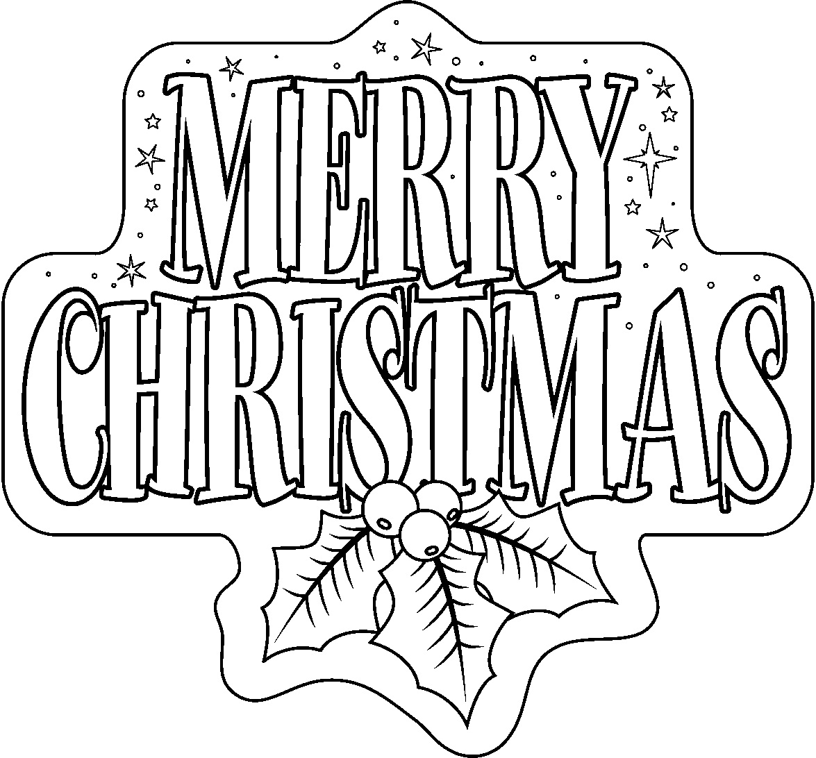 1175x1092 Free Printable Merry Christmas Coloring Pages