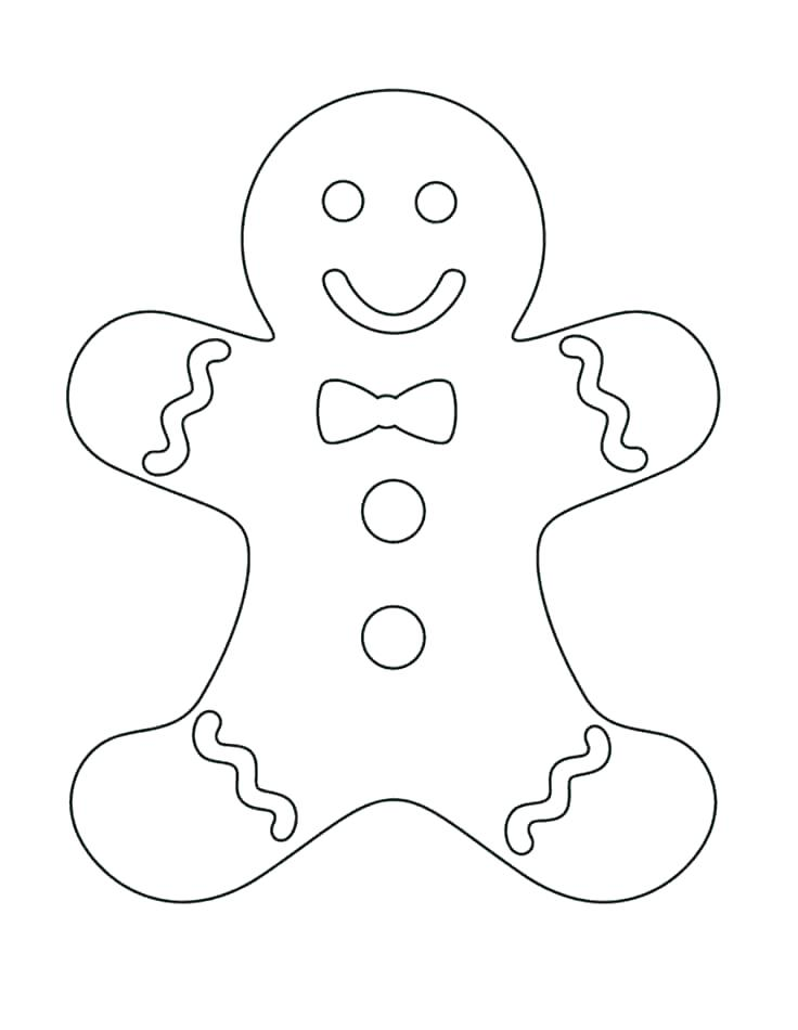 Christmas Cookie Coloring Pages At Getdrawings Free Download