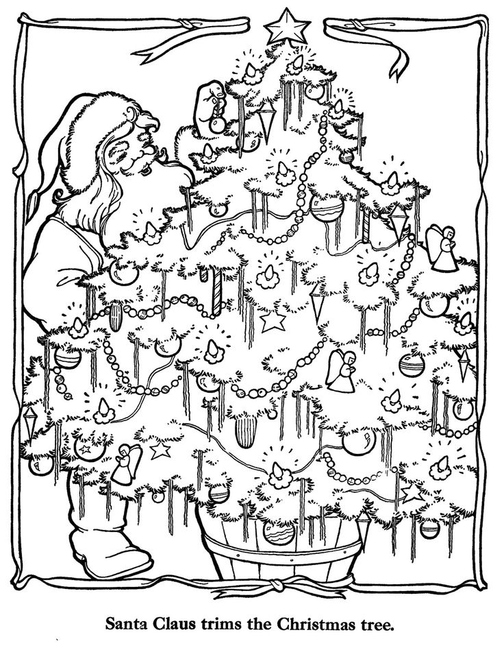 Christmas Countdown Coloring Pages