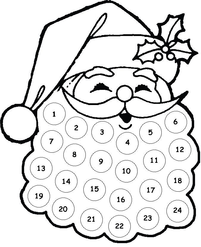 675x830 Kids Craft Santa Advent Calendar Count, Santa Beard And Crafts