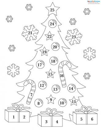 329x425 Printable Advent Calendar Coloring Page Advent