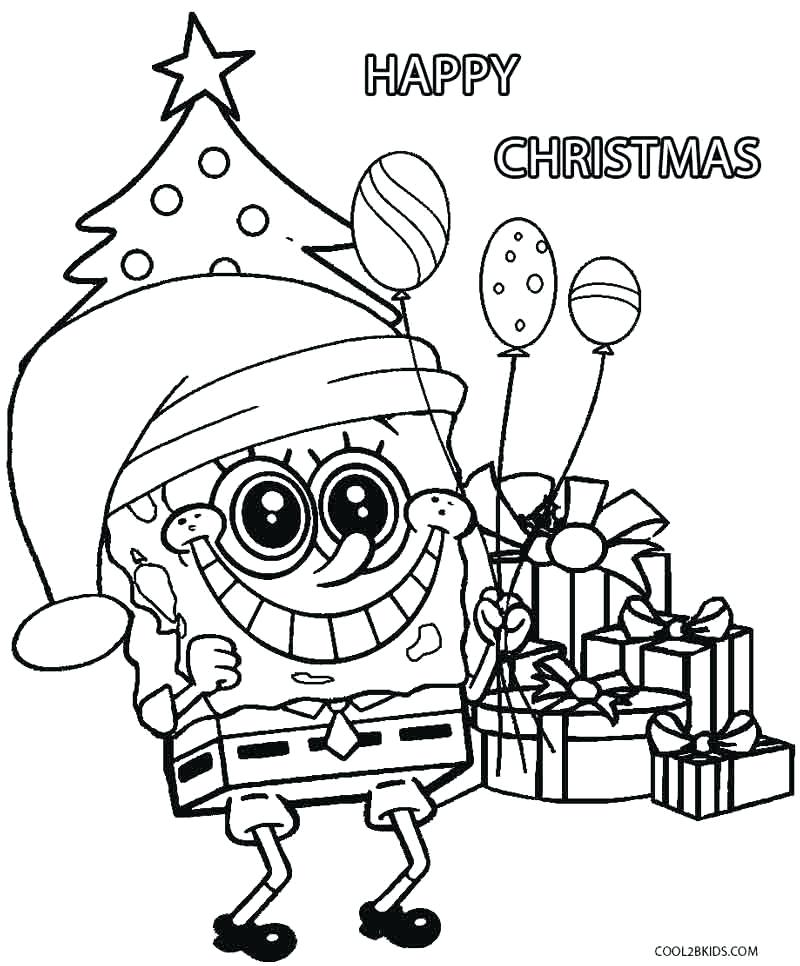 800x966 Spongebob Christmas Coloring Pages Spongebob Squarepants