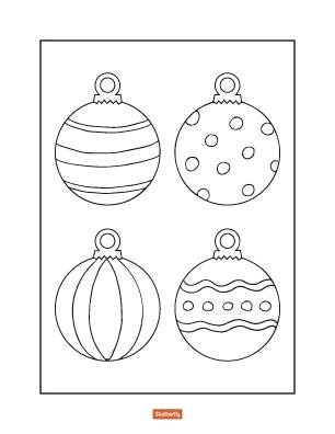 306x396 Christmas Decorations Coloring Ornaments Coloring Pages Ornaments
