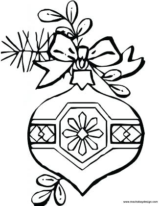 325x420 Christmas Ornament Coloring Free Printable Ornament Coloring Pages