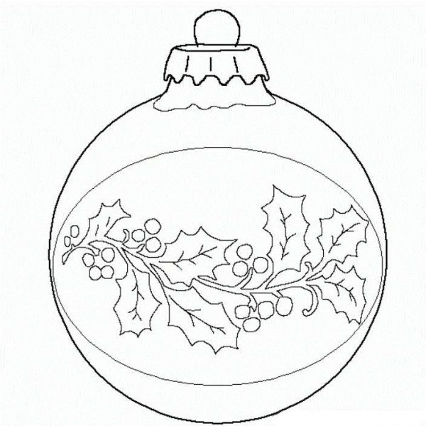 600x600 Ball Christmas Ornament Christmas Coloring Page