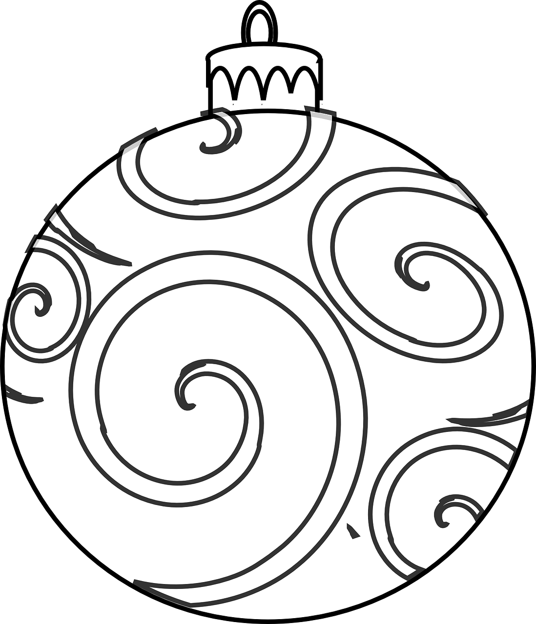 1098x1280 Christmas Ornaments Coloring Pages