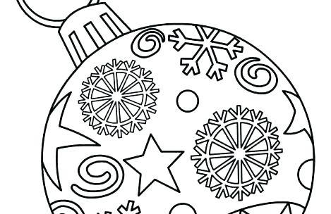 469x304 Christmas Ornament Coloring Sheets