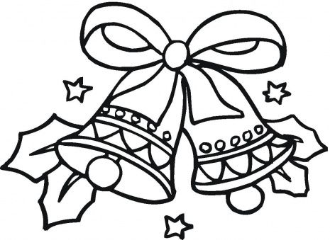 465x339 Christmas Coloring Pages Christmas Bells Coloring Page Super