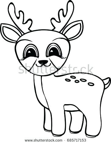 364x470 Deer Coloring Page Funny Cartoon Baby Deer Coloring Pages John