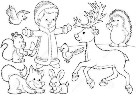 476x333 Deer Coloring Pages Baby