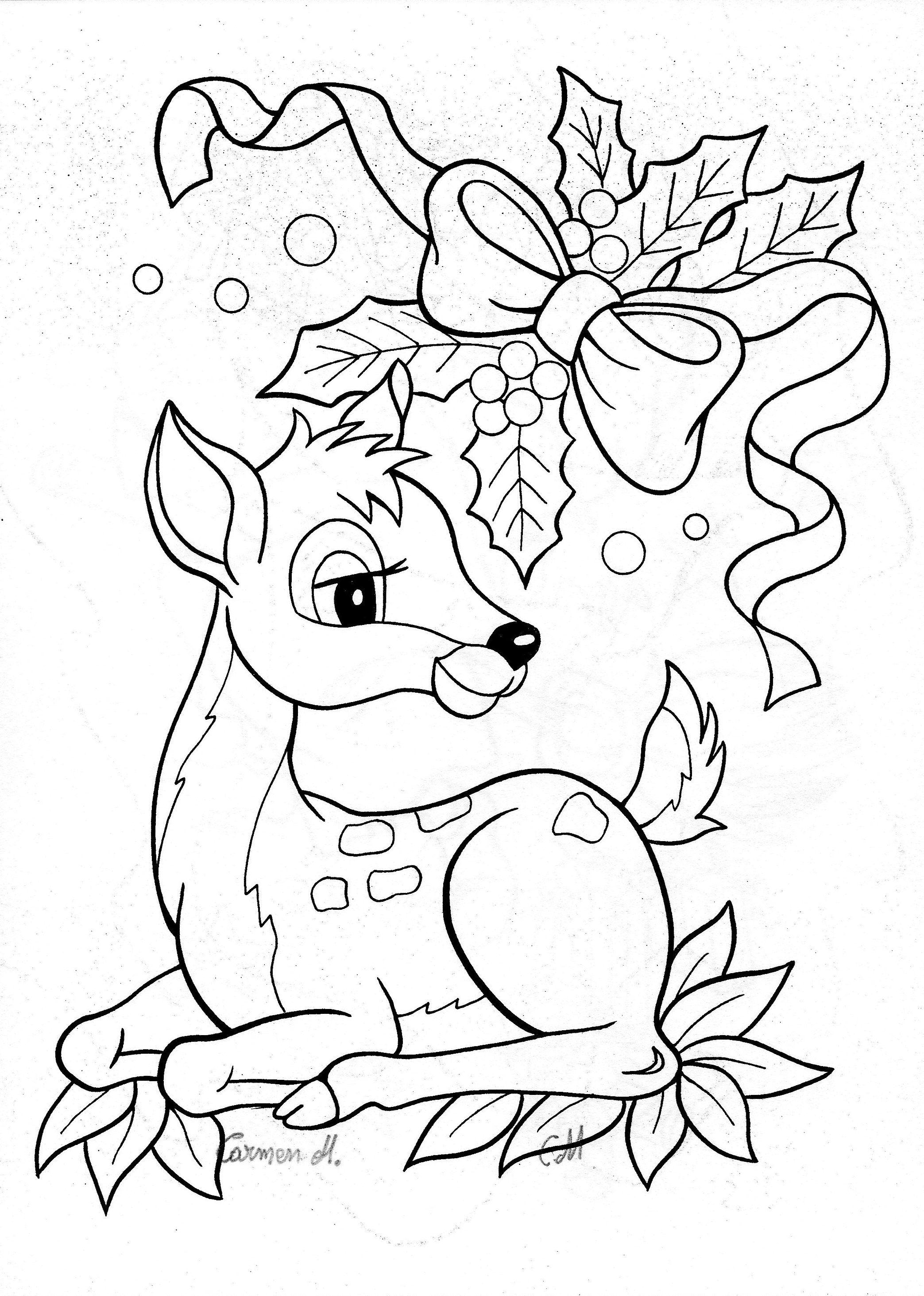 2087x2926 Colour It, Sew It, Trace It, Etc Christmas, Bambi, Deer