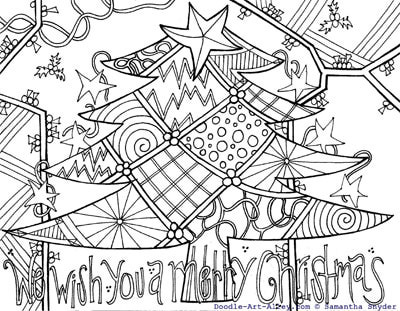 400x311 Christmas Coloring Pages Art Lets Doodle Coloring Pages To Print