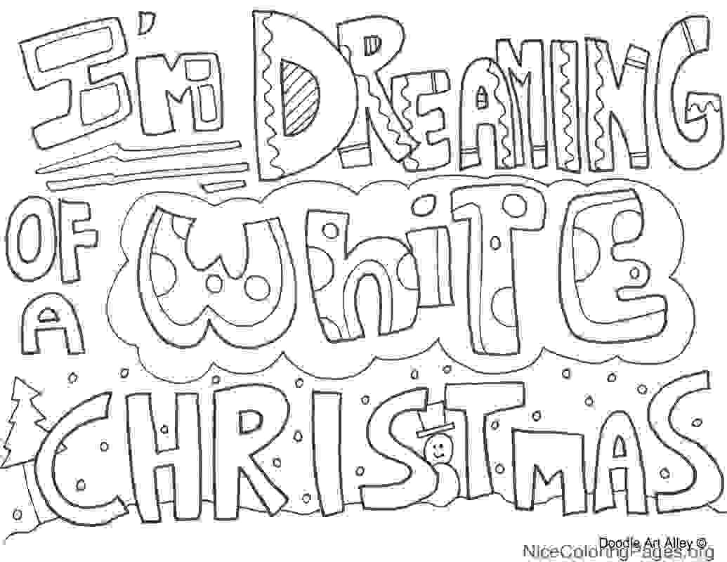 1035x800 Christmas Doodle Coloring Pages
