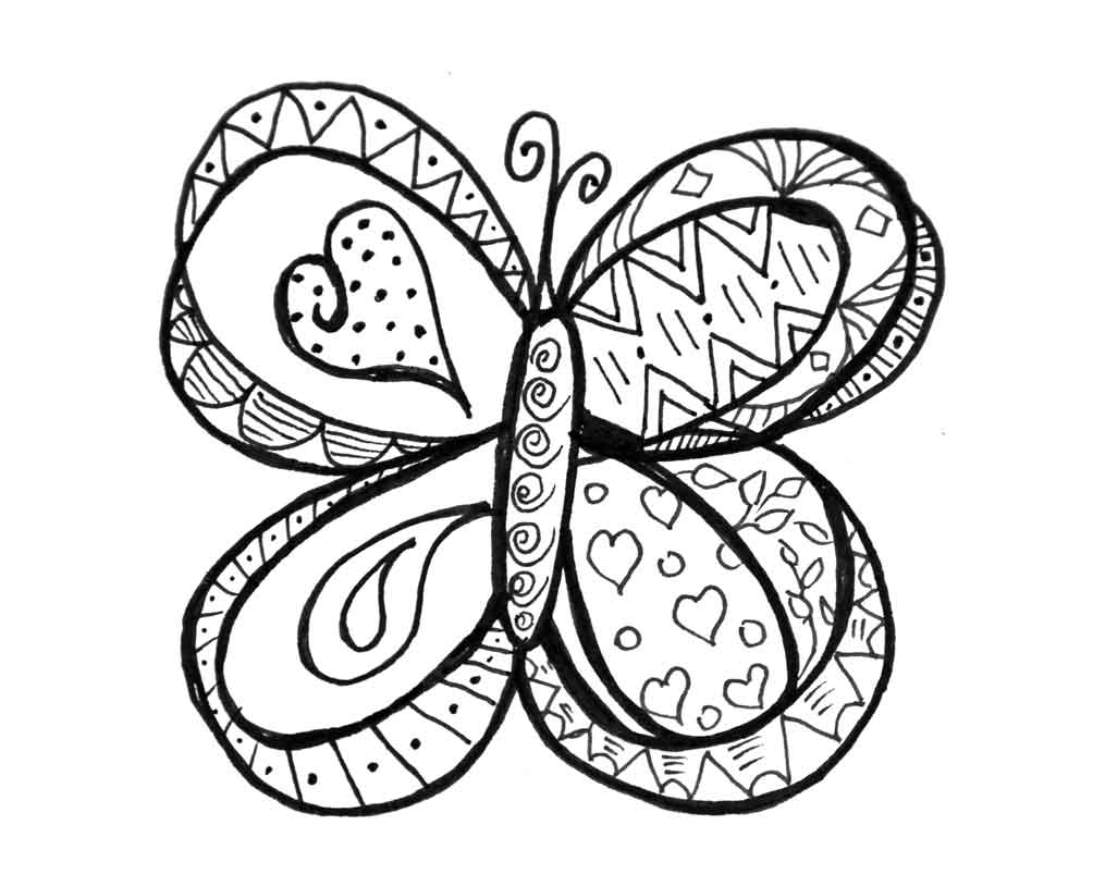 Christmas Doodle Coloring Pages At Getdrawings Com Free For