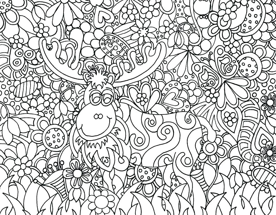 960x748 Doodling Coloring Pages Picture Christmas Doodle Coloring Sheets