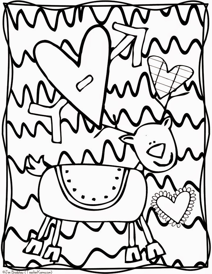 720x932 Free Christmas Doodle Coloring Pages Teacher Karma