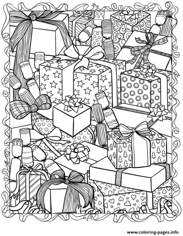 640x821 Print Christmas Adults Coloring Pages Crafts Adult