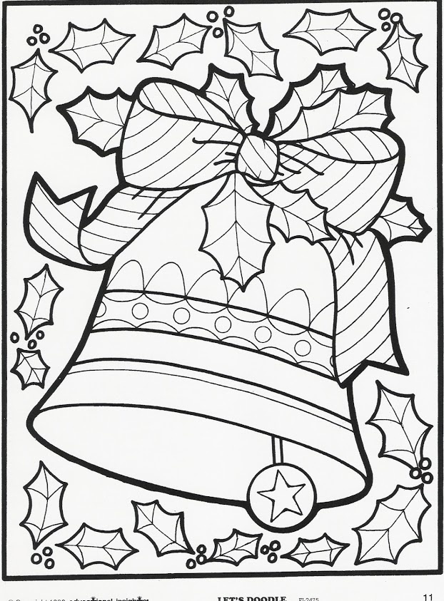 622x843 Christmas Coloring Pages Let's Doodle