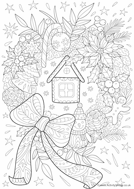 460x650 Christmas Colouring Pages