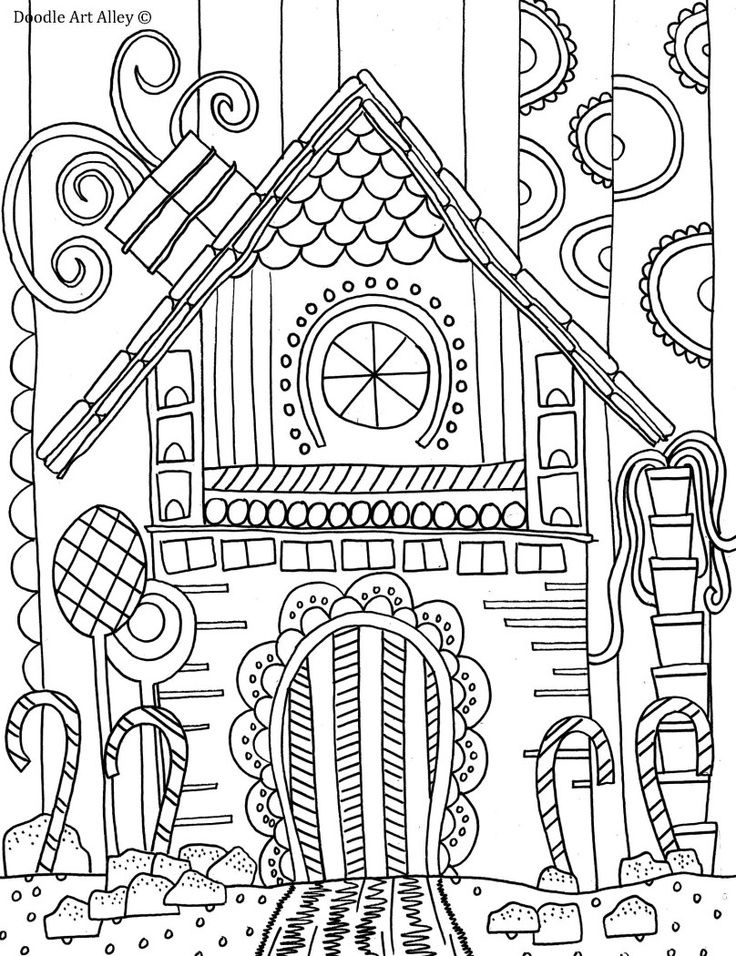 736x956 Christmas Ornament Coloring Pages Gingerbread House Coloring