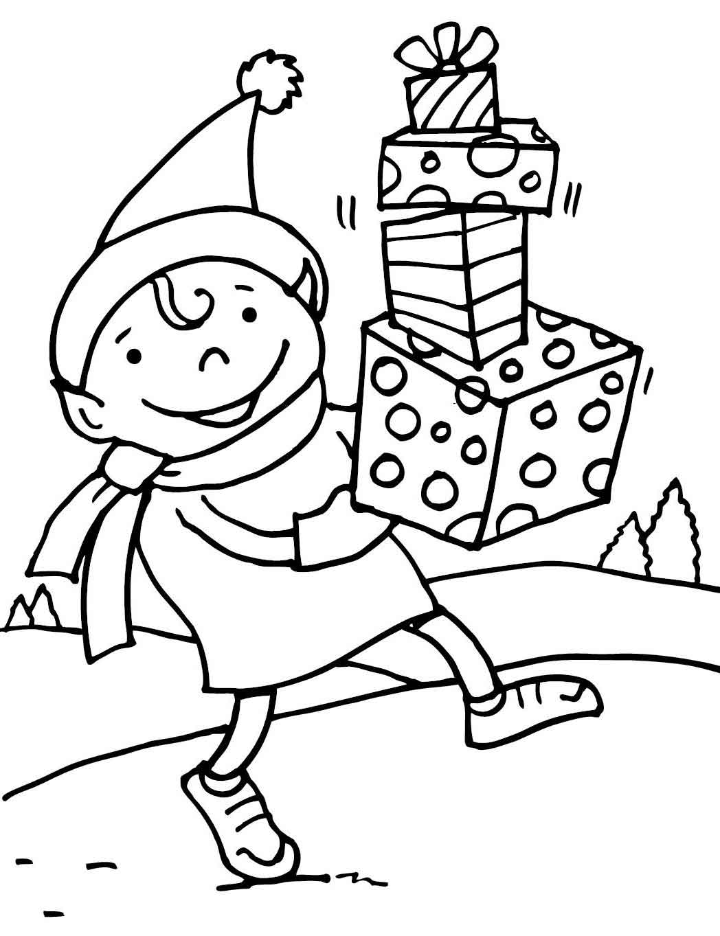 Christmas Elf Coloring Pages Printable at GetDrawings ...