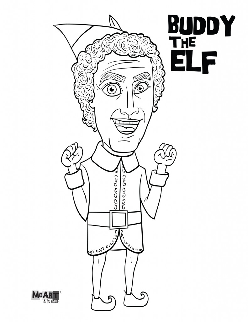 791x1024 Elf Movie Coloring Pages