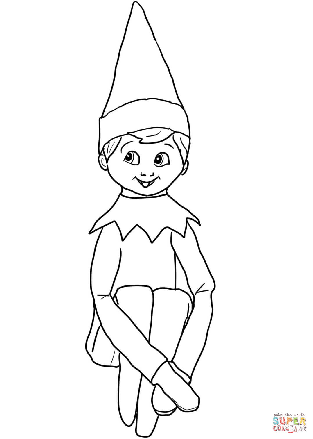 1078x1510 Elf On The Shelf Coloring Page Printable Coloring Pages