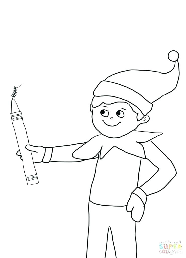740x1024 Elf On The Shelf Coloring Page Elf On The Shelf Coloring Book Plus