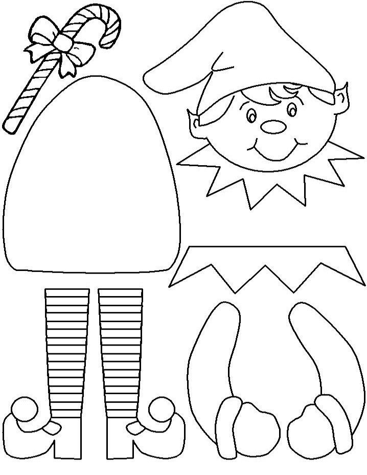 718x929 Elf On The Shelf Coloring Pages Page Christmas