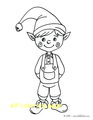 364x470 Elf On The Shelf Coloring Pages Together With Elf Coloring Pages