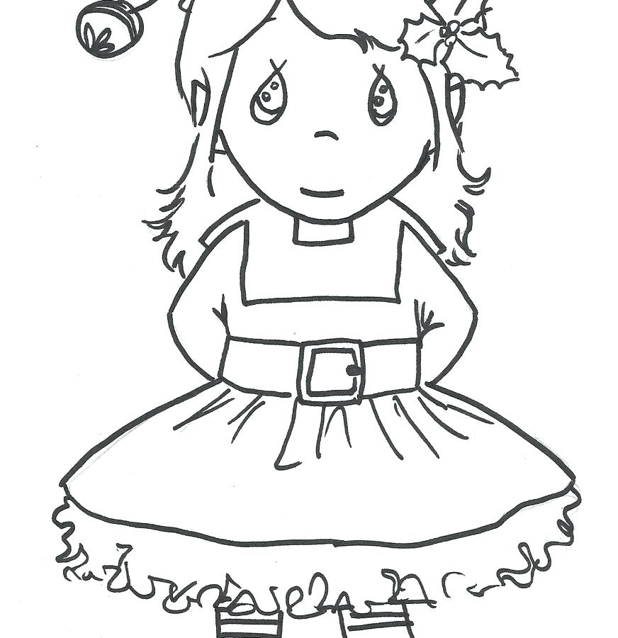 872x900 Elf Printable Coloring Pages Cute Little Girl Elf Coloring Pages