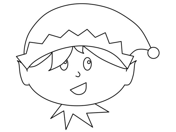 600x450 Little Boy Christmas Elf Print Coloring Pages Free Printable
