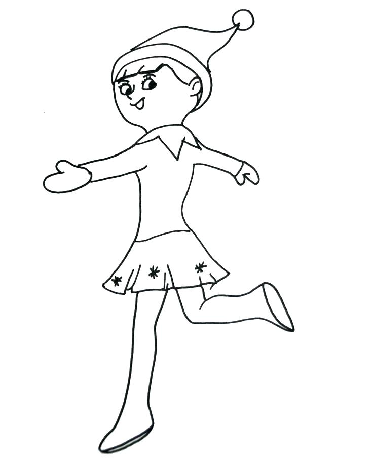 736x920 Christmas Elf Coloring Pages Elf Coloring Sheets Free Pages This